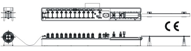 roll forming machine layout-partition